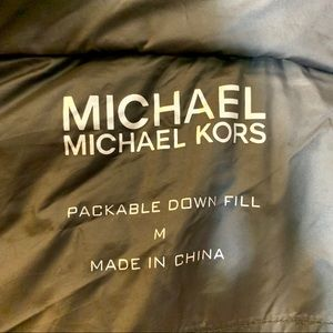 MICHAEL Michael Kors Jackets & Coats - Michael Kors Packable Down Fill Jacket
